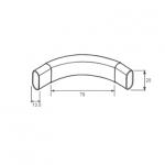 Αντάπτορας γωνιακής σωλήνα ντουλάπας οβάλ 30x15
