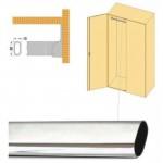 Σωλήνα ντουλάπας οβάλ 30x15mm