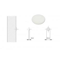 Αντιθορυβικό σιλικόνης αυτοκόλλητο 10x3mm