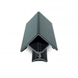 Γωνία Μπάζας σταθερή 10 cm μαύρη