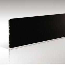 Μπάζα πλαστική 12cm 4m μαύρη ματ
