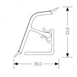 Αρμοκάλυπτρο πάγκου REHAU 118 Δρυς ανοιχτό
