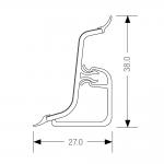 Τελείωμα για αρμοκάλυπτρο πάγκου REHAU 127 δεξί