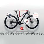 Βάση για ποδήλατα επεκτεινόμενη επιτοίχια