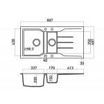 Νεροχύτης Sanitec 802 100x50cm
