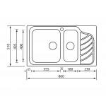 Νεροχύτης Inox Sanitec 11754 86x51cm