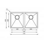 Νεροχύτης Inox Sanitec 11909 77x45cm