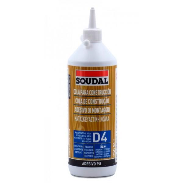 Κόλλα ξύλου πολυουρεθάνης Soudal D4/66A αδιάβροχη 750gr