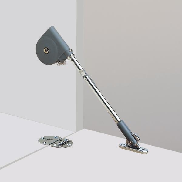 Κουμπάσο σπαστό SDS C100 μαύρο για ξύλινη πόρτα κάτω