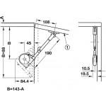 Κουμπάσο σπαστό SDS C301N λευκό για ξύλινη πόρτα πάνω